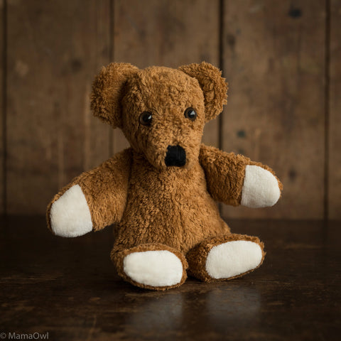 Small Organic Cotton & Wool Bear - Caramel