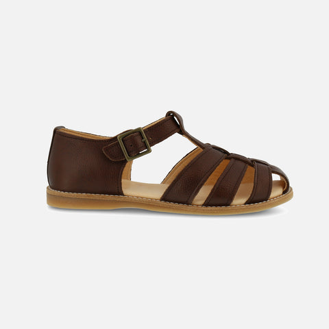 Women's Eco Leather Lotta EP Sandals - Dark Brown - 37 (UK 4) - 40 (UK 7)