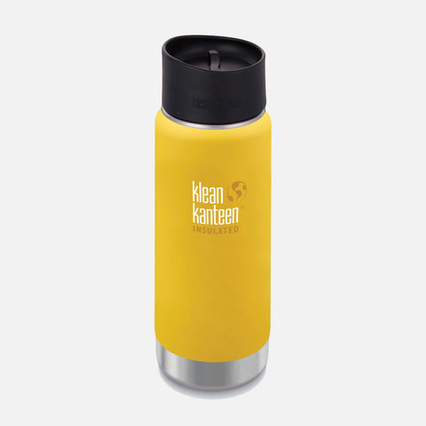 Stainless Steel Wide Insulated Coffee Mug - Lemon Curry