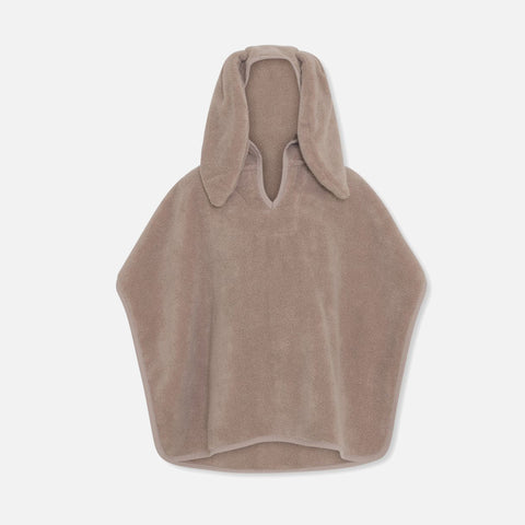 Organic Cotton Terry Kid's Poncho - Bark