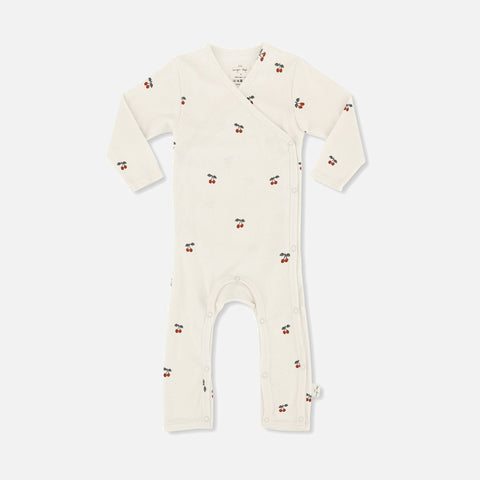 Organic Cotton Newborn Onesie- Cherry - 1-3m