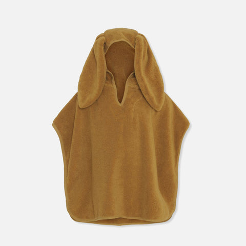 Organic Cotton Terry Kid's Poncho - Mustard