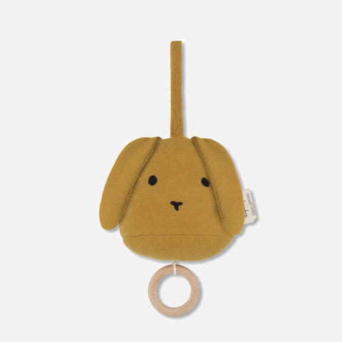 Cotton Music Mobile Rabbit - Mustard