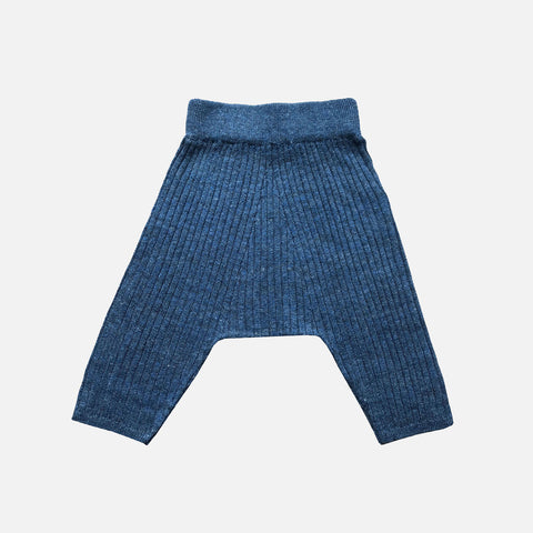 Knitted Linen Adara Harem Pants - Dark Denim - 12m-8y