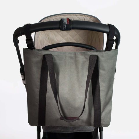 Cotton Stroller Bag - Grazing Buffalo - Olive