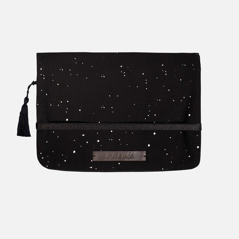 Cotton Nappy Clutch - Coming Storm - Black
