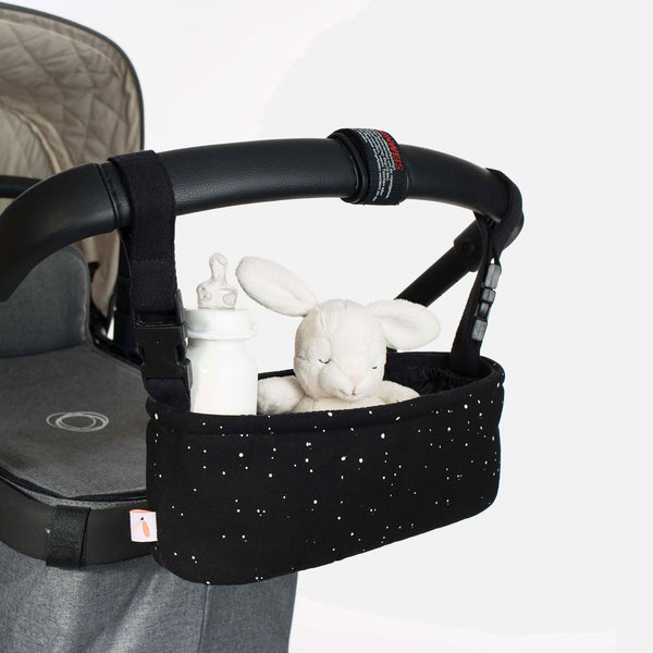 Cotton Stroller Organiser - Endless Sky - Black
