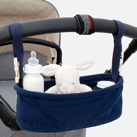 Cotton Stroller Organiser - Dancing Bear - Navy