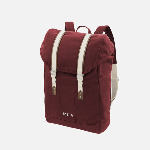 Organic Cotton Mela V Backpack - Burgundy