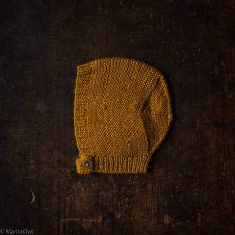 Exclusive Hand-Knit Merino Beach Walk Bonnet - Spun Gold - 0m-4y