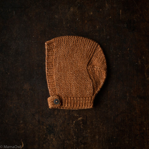 Exclusive Hand-Knit Merino Beach Walk Bonnet - Rose Gold - 0m-4y