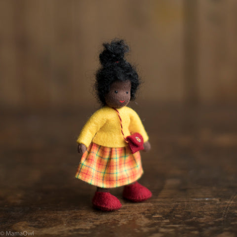 Handmade Doll's House Doll - Black Girl