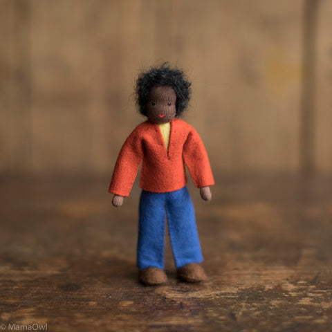 Handmade Doll's House Doll - Black Man