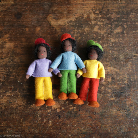 Handmade Doll's House Doll - Black Boy