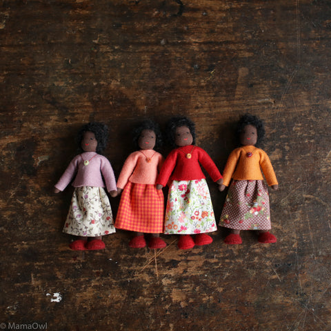 Handmade Doll's House Doll - Black Woman