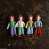 Handmade Wool Doll's House Doll - White Boy