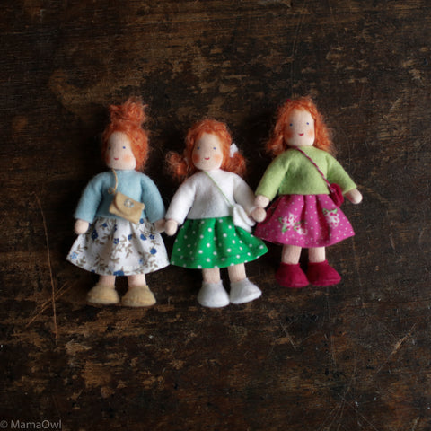 Handmade Doll's House Doll - White Girl