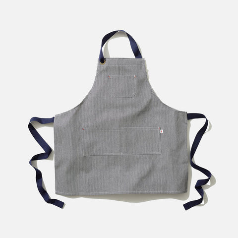 Cotton Maker Apron - Indigo Stripe