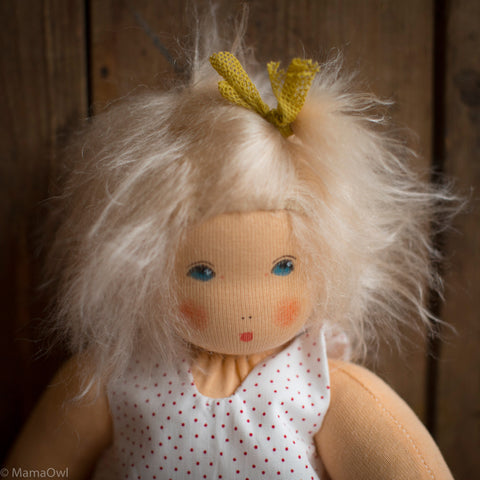 Organic Cotton/Wool Waldorf Doll - Luisa