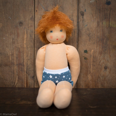 Organic Cotton/Wool Waldorf Doll - Simon