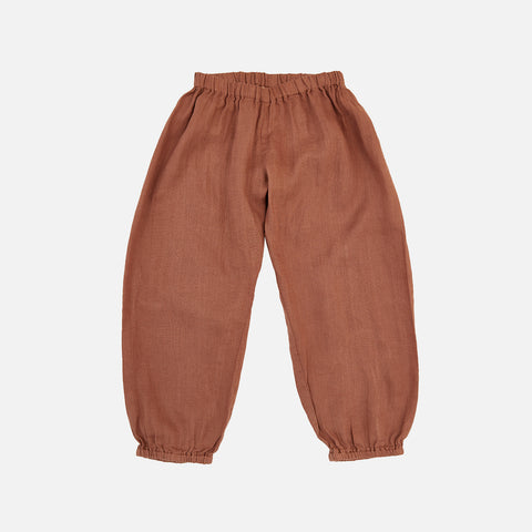 Linen India Pants - Teracotta - 2-10y