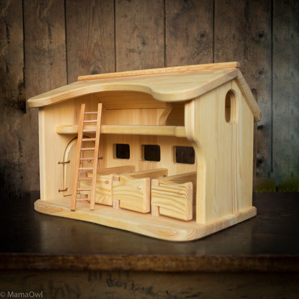Handcrafted Very Large Wooden Stable