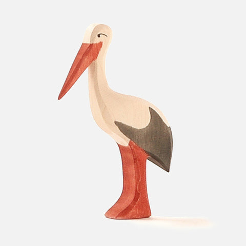 Handcrafted Standing Stork
