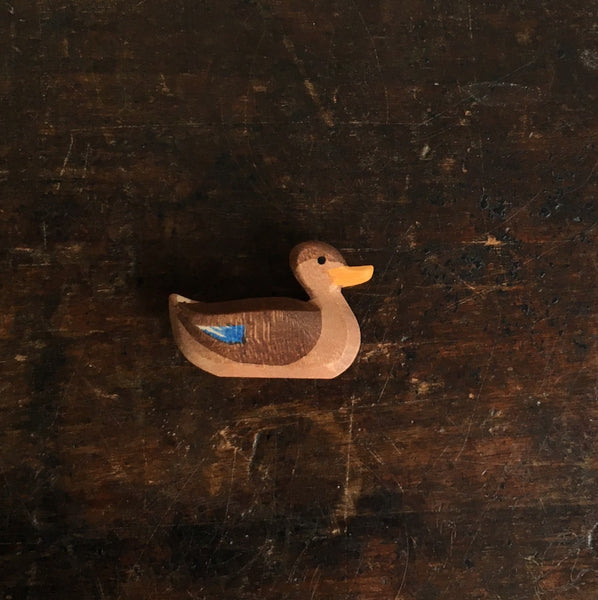 Handcrafted Swimming Brown Duck