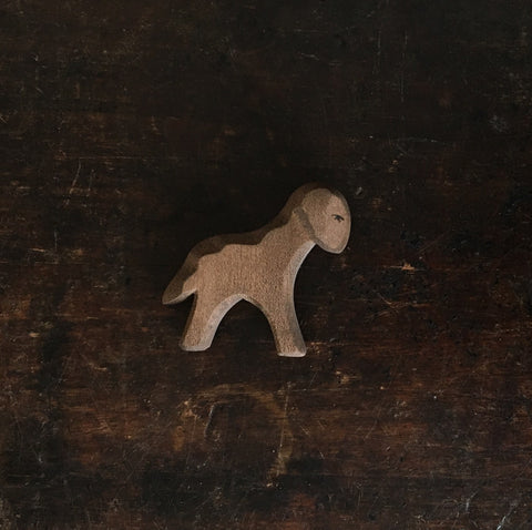 Handcrafted Brown Running Lamb