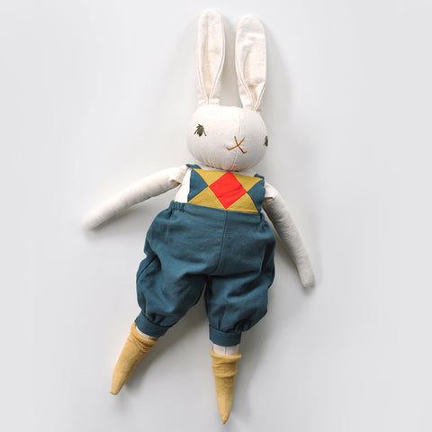 PDC Large Rabbit - Leo - Cream With Patchwork