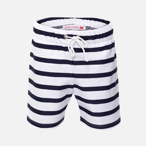 Alex Short Swim Shorts - White/Blue - 2-10y