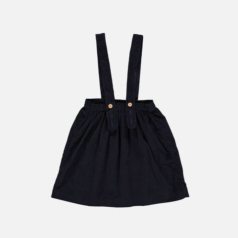 Organic Cotton Corduroy Bianca Skirt - Dark Blue - 2-10y