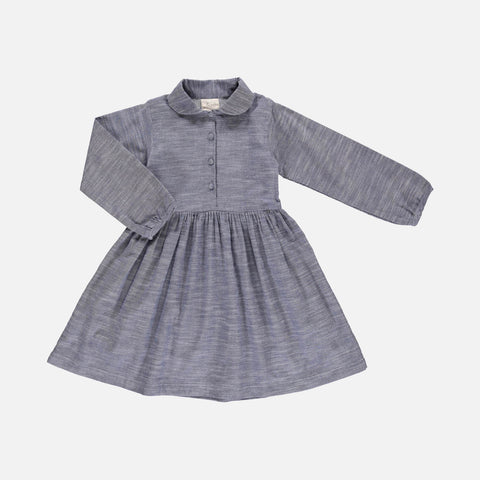 Organic Cotton Josefine Dress - Grey Ikat - 2-10y