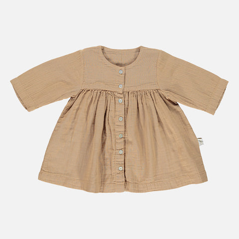 Organic Cotton Aubepine Dress - Indian Tan - 3-10y