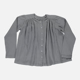 Organic Cotton Earl Grey Adult Long Sleeve Blouse - Iron Gate - S-L