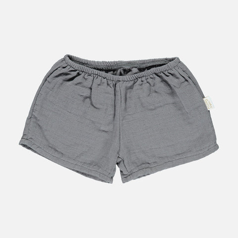 Organic Cotton Cardamone Shorts - Iron Gate - 3-8y