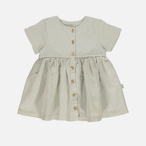 Linen/Organic Cotton Guarana Dress - Naturel - 24m-8y