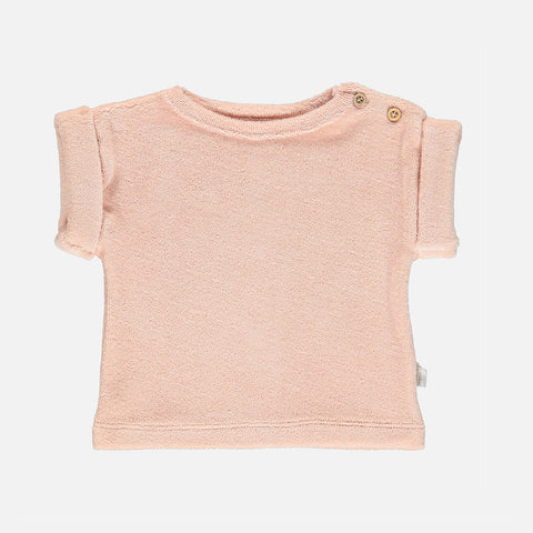 Organic Cotton Terry Laurier Tee - Evening Sand - 12m-8y