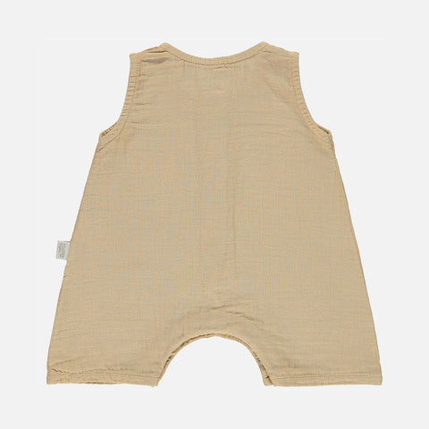 Organic Cotton Poivre Short Romper - Starfish - 3m-4y