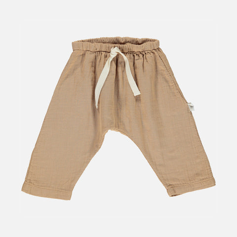 Organic Cotton Baggy Pants - Indian Tan - 3m-8y