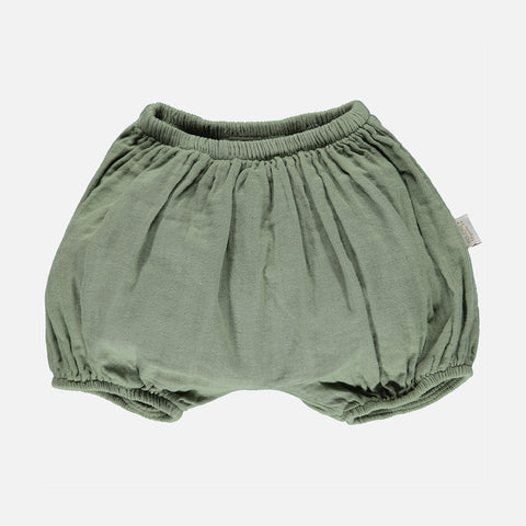Organic Cotton Bloomers - Oil Green - 1m-4y