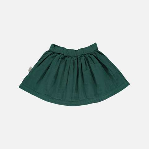 Organic Cotton Button Skirt - Bistro Green - 2-10y
