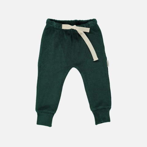 Organic Cotton Terry Leggings - Bistro Green - 6-24m