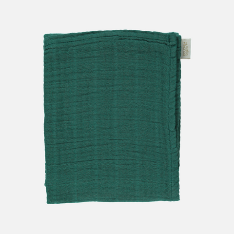 Small Organic Cotton Muslin / Baby Scarf - Bistro Green