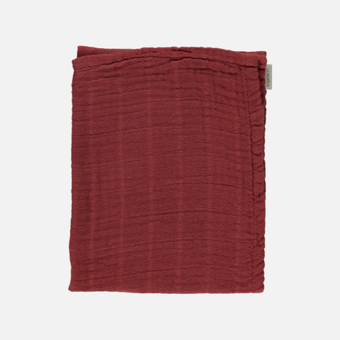 Small Organic Cotton Muslin / Kids Scarf - Syrah