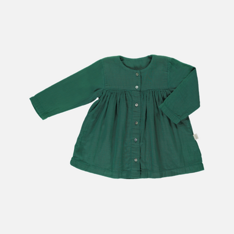 795514baf4 Sold out Organic Cotton LS Button Dress - Bistro Green - 1-10y ...