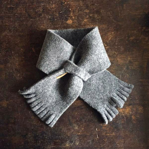 Merino Fleece Baby Scarf - Moon Grey