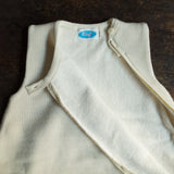 Organic Virgin Merino Wool/ Organic Cotton Sleeveless Sleeping Bag - Natural