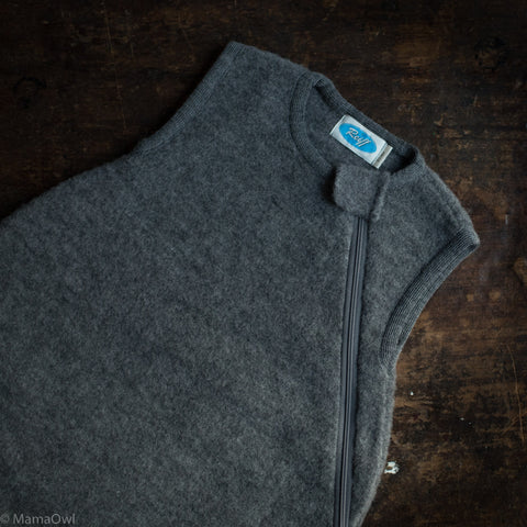 Organic Merino Wool Fleece Sleeping Bag - Slate
