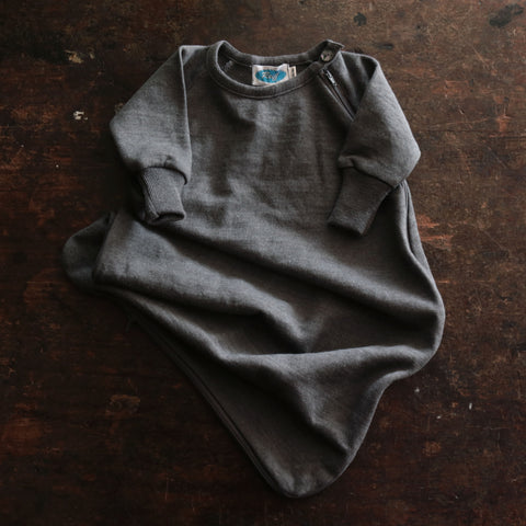 Virgin Wool/Silk LS Terry Sleeping - Slate